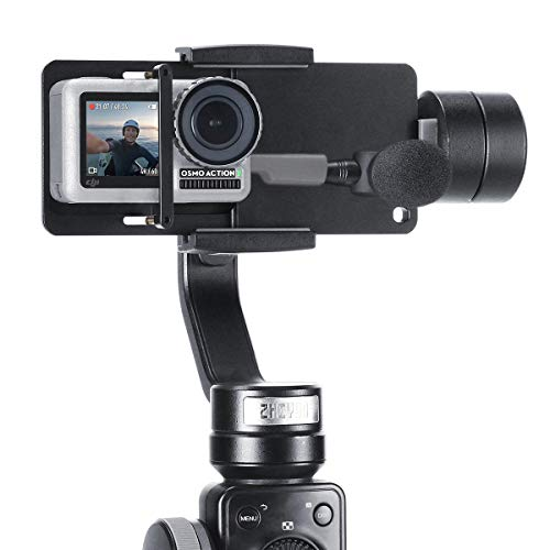 Ulanzi Action Kamera Adapter Aluminiumlegierung Schalter Mount Teller massiv Handheld Gimbal Adapter mounnt für GoPro Hero 6/5/4/3+, Yi, DJI Osmo Mobile 2/zhiyun Glatte F