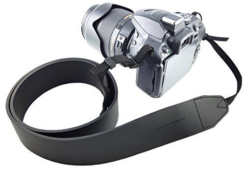 ECHT Leder Kameragurt Schultergurt Ledergurt schwarz EXTRA LANG Tragegurt Trageriemen Quick-Strap für Canon Nikon Sony DSLR-Kameras // MIND-CARE-ESSENTIALS