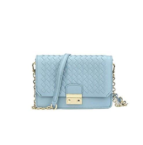 Kleine Frische Handgewebte Kleine Weihrauch Wind Schultertasche Messenger Tasche Paket Paket Tasche Blue