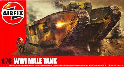 1/76 WWI Mail Tank (mannliche Panzer) (Kunststoff-Modell) A01315