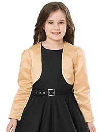 ... Pullover   Strickjacken   Gold. BlackButterfly Kinder Satin Langarm  Bolero Mädchen b1fcede675