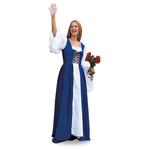 Costume mittelalterliches magdkleid bleu Bleu - Bleu