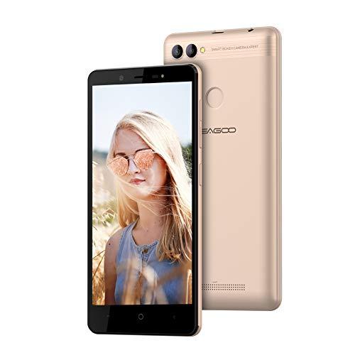 Téléphone Portable débloqué, Leagoo Kiicaa Power 2 - Smartphone pas cher, 3G Android 7.0, 5.0' HD IPS Écran Double Caméra Arrière, Smartphone portable débloqué à bas prix Moins de 100 euros (Or)