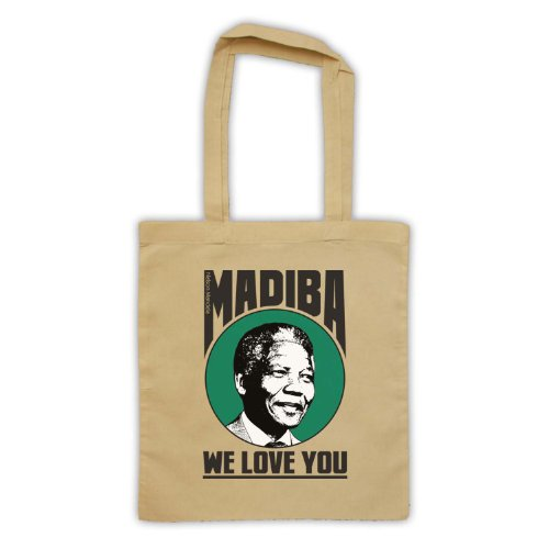 Nelson Mandela Madiba We Love You-Borsa da shopping natur