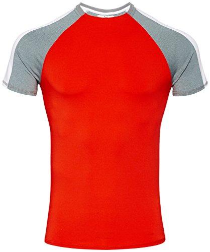 FIND Sport Top Herren Rot (Sport Red/Grey Marl/White)