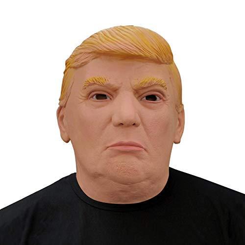 Finalshow des Präsidenten Donald Trump Maske Latex Politisch Männer Kopf Kostüm für Halloween Weihnachten Party Dekoration Karneval - Präsident Kostüm Kinder