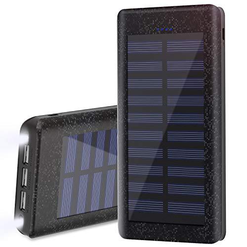Esta gran capacidad batería externa asegura el máximo apoyo en términos de recarga cuando está lejos de la fuente de alimentación o al aire libre. Ofrece carga rápida a un máximo de 3 dispositivos a la vez. La característica de la linterna LED hace u...
