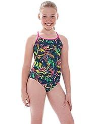 La cara feliz Zoggs chica Bella bañador - Multi-color, 86,36 cm/14 - 15 años