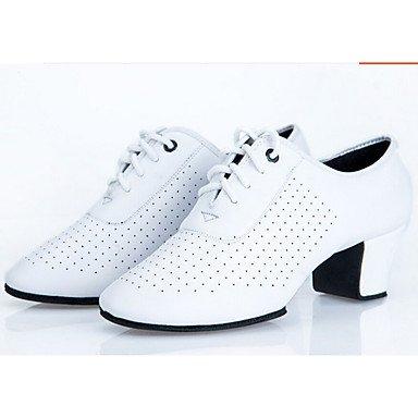 Chaussures De Danse-personnalisable-womens-latin-american Dance-flat-satin-blanc Blanc
