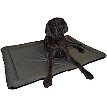 Dans imperméable et Outdoor Lit pour chien tapis en noir Größe XXL 114 x 80 cm Grau - Rückseite Schwarz