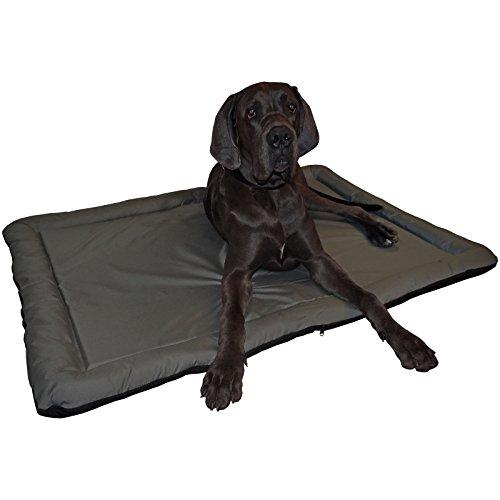 Hossi's Wholesale Wasserfestes In und Outdoor Hundebett Hundematte grau/schwarz Größe x L 95 x 64 cm