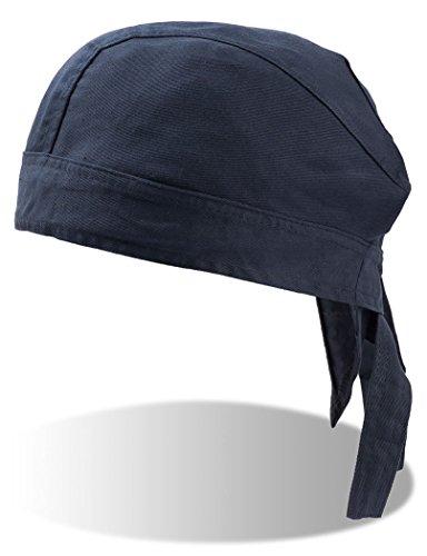 Baumwoll Bandana Corsaire Bandanas Kopftücher (One Size - blau)