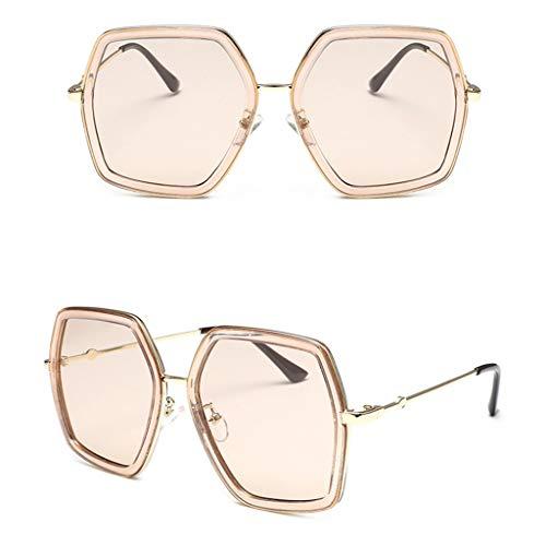 Dkings Unisex polarisierte Aluminium Sonnenbrille Vintage Sonnenbrille für Männer/Frauen, Premium Military Style Classic Aviator Sonnenbrille, polarisiert, UV-Schutz (Beige)