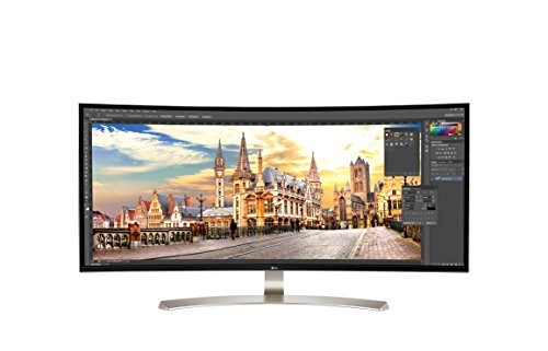 LG 38UC99-W - Monitor UltraWide Curva de 95 cm (38 pulgadas, Full HD, IPS, LED, 3840 x 1600 pixeles, 5 ms, 21:9, 300 cd/m2) Color Blanco