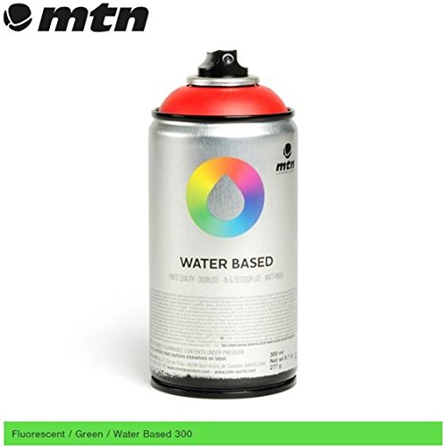 mtn-fluorescent-green-300ml-water-based-spray-paint