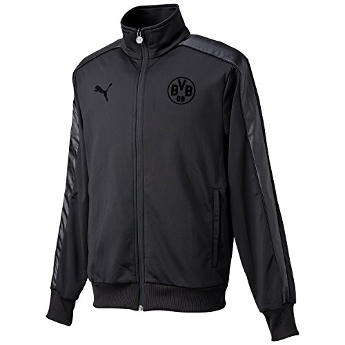 PUMA Herren Jacke BVB T7 Track Jacket, Black, XXL