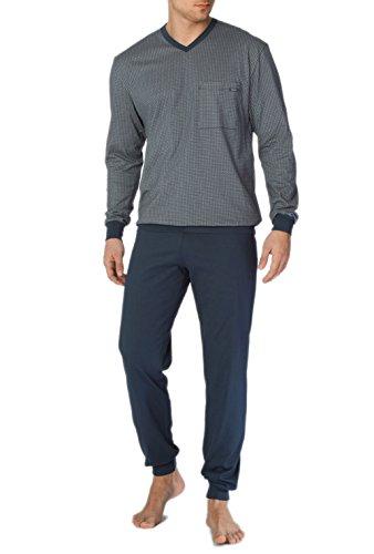 Calida Herren Zweiteiliger Schlafanzug Bill Pyjama mit Bündchen Dark Blue
