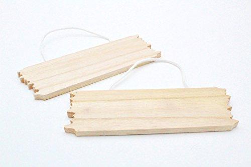 kommen Türschild Saloon aus Holz Zum Selbst Gestalten Gravur Namensschild DIY Holzscheibe ()