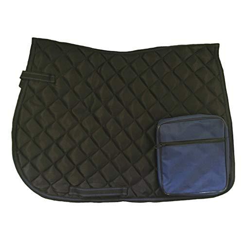 netproshop Wanderschabracke Satteldecke mit Tasche für Wanderreiten, Auswahl:Schwarz/Dunkelblau -