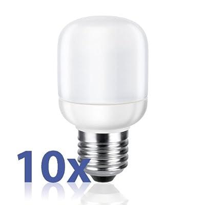 E27 Energiesparlampe Von Parlat Warm-wei 9w Ersetzt 40w Glhlampe 420 Lm 180 230 Volt Ac 10 Stck Packung von LEDs Com GmbH