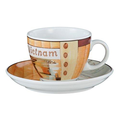 Seltmann Weiden VIP. Cappuccinotasse mit Untertasse, Kaffeetasse, Vietnam, Porzellan,...