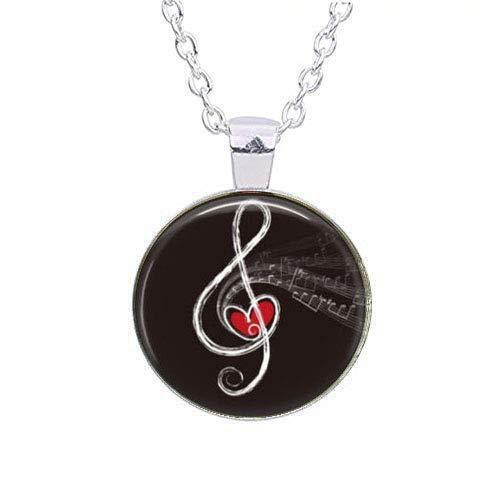 Colgante de clave de sol y corazón, clave de sol inusual, regalos de música,...