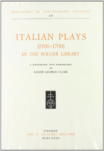 italian-plays-1500-1700-in-the-folger-library-a-bibliography-with-introduction