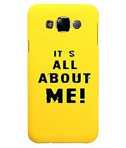 KolorEdge Back Cover For Samsung Galaxy E7 - Yellow (5874-Ke15141SamE7Yellow3D)