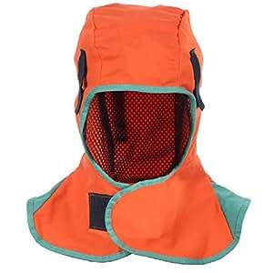 36x40cm Sliveal Welding Helmet Sweatband Breathable Hooded Flame Retardant Helmet Welding Headgear Flame Retardant Helmet Washable Protection Hood For Welder Blue//Orange
