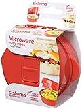 Sistema Microwave Egg Cooker Easy Eggs, 270 ml - Red