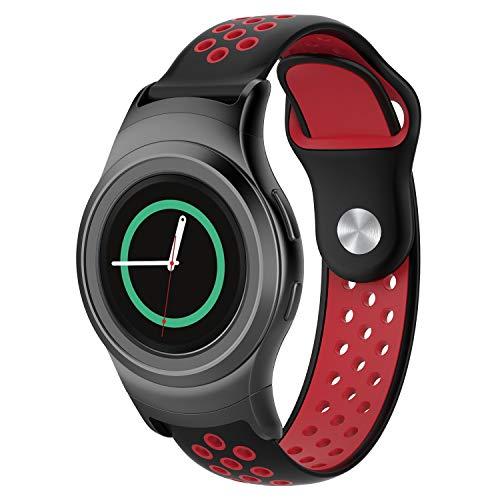 squarex Silikon Sport Uhrenarmband für Samsung Gear S2 SM-R720 / SM-R730 mit Adapter, Damen, e, AS Show