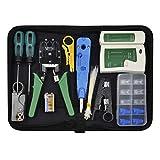 Netzwerk Reparaturwerkzeuge - Chairlin 13tlg Professionell Netzwerk Werkzeug Set, Netzwerk Kabeltester Kit, Computer Wartung LAN Kabel Tester, Netzwerk-Tool-Kit, geeignet für DIY, Haushalt oder Fabrik