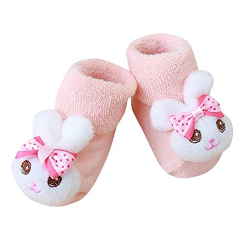 IGEMY Cartoon Newborn Kinder Baby Mädchen Jungen Anti-Slip Warme Socken Slipper Schuhe Stiefel (C) -