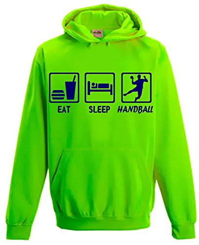 EAT SLEEP HANDBALL ! Kinder NEON SWEATSHIRT green Kinder 7/8 Jahre
