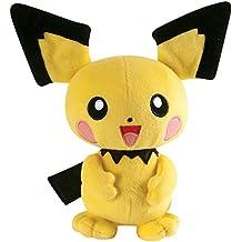 Tomy Picku Monstruo Felpa Negro, Amarillo - juguetes de peluche (Monstruo, Pokemon, Pikachu, Felpa, Negro, Amarillo)