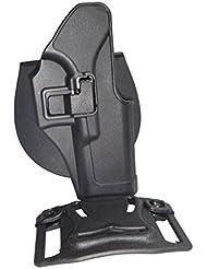 –Cinturón Holster Para Glock 17/18/19/25Negro Ajustable con fusible