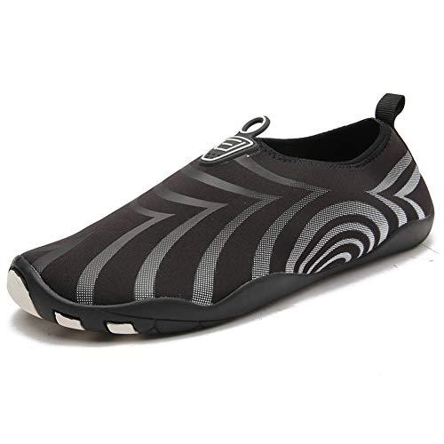 Liuxm Uomo Donna Scarpe Sport Acquatici A Piedi Nudi Quick-Dry Aqua Yoga Slip-on Leggero per Piscina Sand Swim Surf Acqua Esercizio,3,44