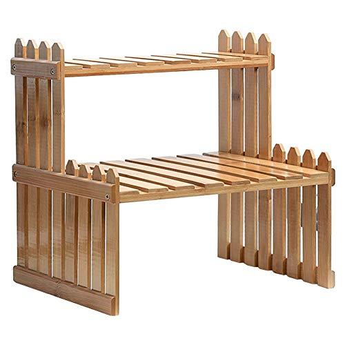 Househome Stand di piante, Espositore per a fiori, présentoir in legno di piante in legno supporto portaoggetti in legno di vaso in legno per interno esterno, a, 47cm