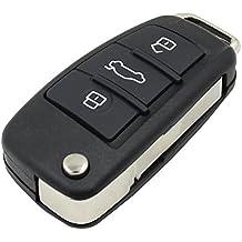 3Botones plegable–Carcasa de mando con tapa para Audi A2A3A4A6A6L A8TT