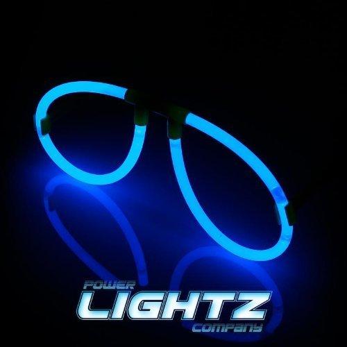 5 Knicklicht-Brillen/Leucht-Brillen in blau | wiedernachfüllbar und wiederverwendbar, geprüfte Markenqualität