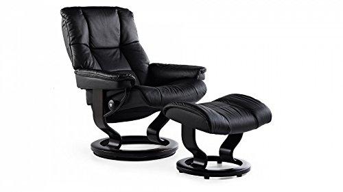 Stressless® Mayfair Sessel mit Hocker (M) Schwarz günstig
