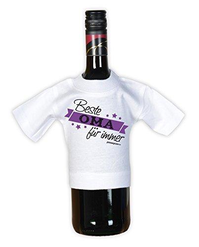 T-Shirt für Großmütter - Oma des Jahres! Im Set mit einem gratis Minishirt! Farbe: lila Violett