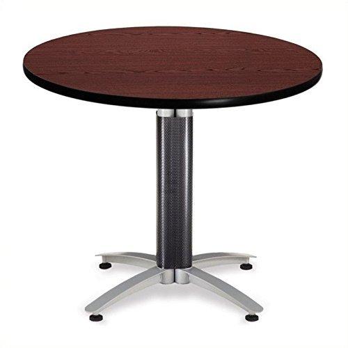 OFM Modell mt36rd 91,4cm Mehrzweck-runder Tisch mit Metall Mesh Boden, Mahagoni -