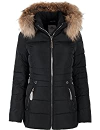 Winterjacke damen daunen fell