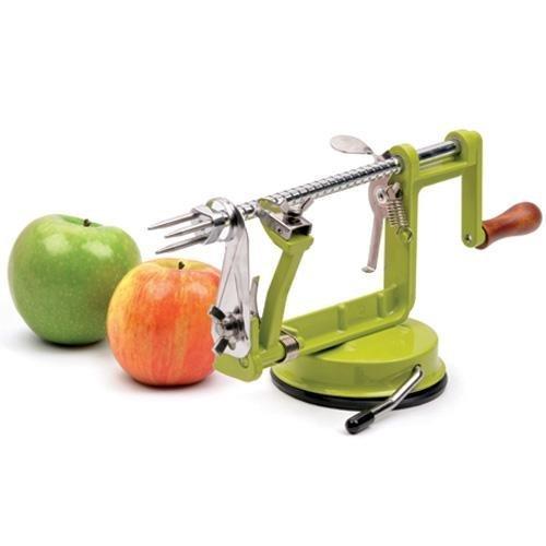 RSVP Apple Peeler Corer Slicer Machine Canning Applesauce Pie Slicing Green New -