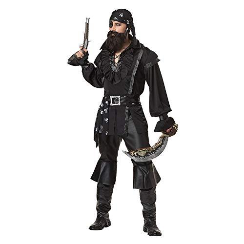 AINI Damen Piratenkostüm Piraten der Karibik Minikleid Halloween Kostüme Cosplay Halloween Party Lustiges Outfit für Erwachsene (Karibik Kleinkind Piraten Mädchen Kostüm)