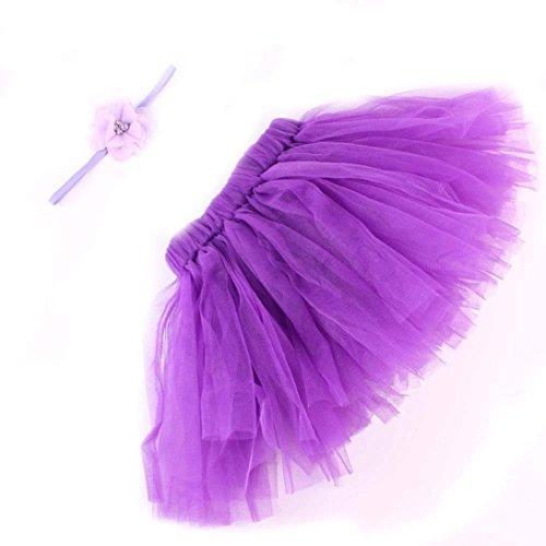 es Baby Mädchen Jungen Tutu Kleid Kostüm Foto Fotografie Prop Outfits Tütü Tüllrock Mädchen Ballet (lila) (Top 50 Der Halloween Kostüme)