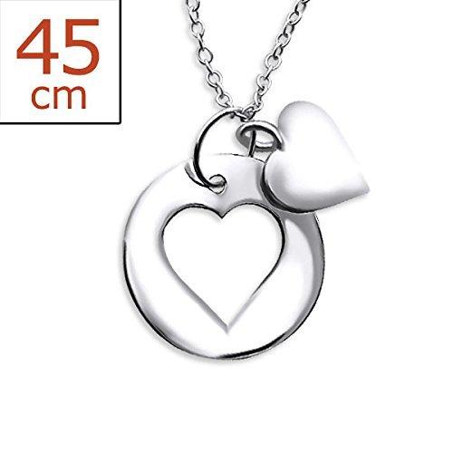 Silber Herz Halskette–Cut Out und Center von Alef Judaica (Jane Seymour Offenen Herzen Schmuck)