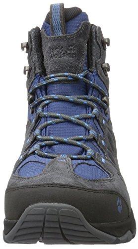 Jack Wolfskin Mtn Attack 5 Texapore Mid M, Chaussures de Randonnée Hautes Homme Gris (Ocean Wave)
