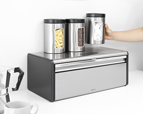 Brabantia Fall Front Bread Bin - Brilliant Steel